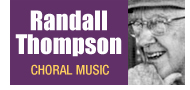 Randall Thompson Choral Music